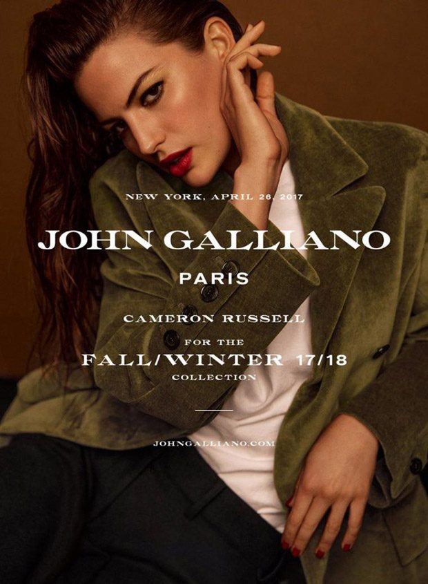 Cameron Russell is the Face of John Galliano Fall Winter 2017 Collection