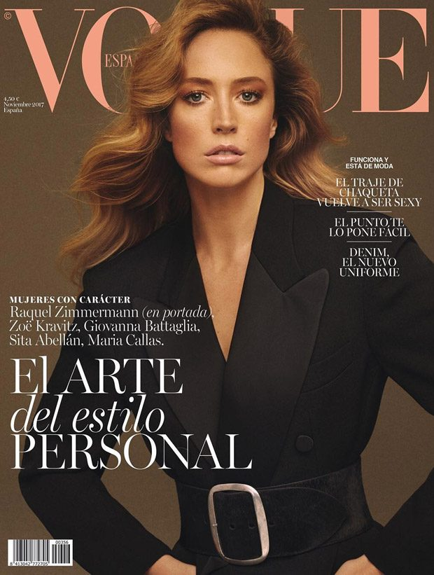Raquel Zimmermann Stuns for the Cover of Vogue Spain November 2017 Issue
