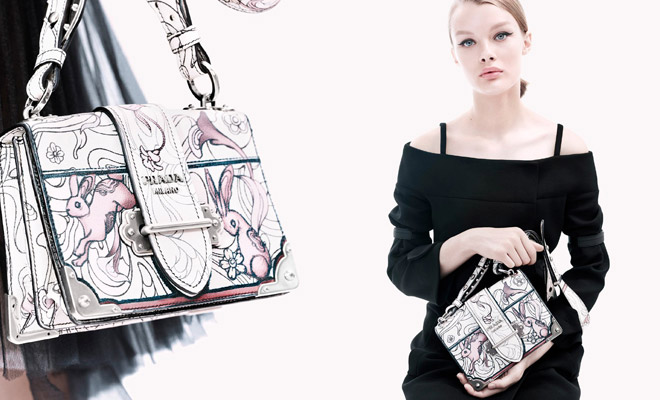 7fef70ae026e Kris Grikaite is the Face of Prada Resort 2018 Collection
