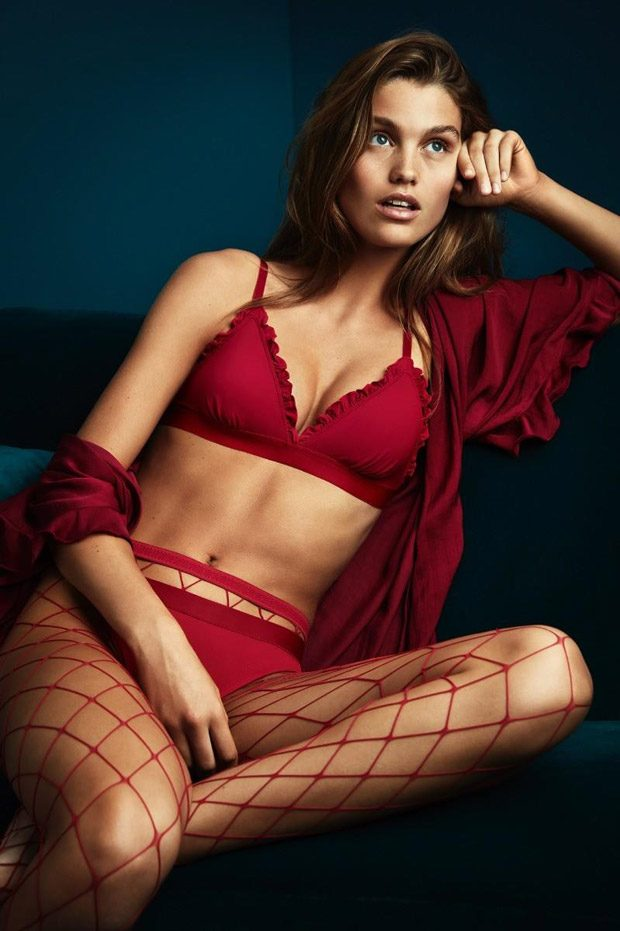 Luna Bijl is the Face of H&M Holiday 2017 Underwear Collection