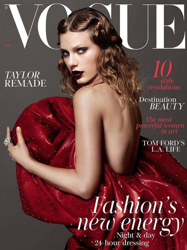 Taylor Swift Stuns in Saint Laurent for British Vogue January 2018 Issue