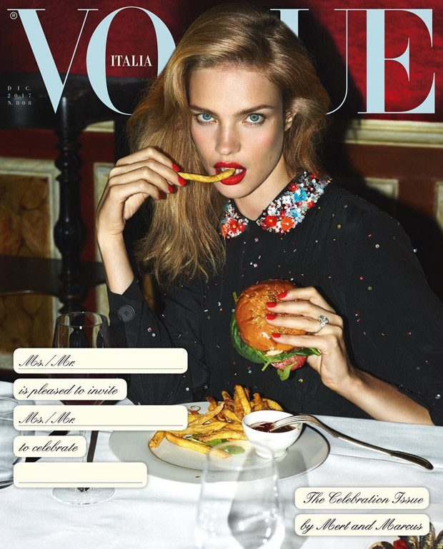 Supermodels for Vogue Italia Celebration Issue by Mert & Marcus