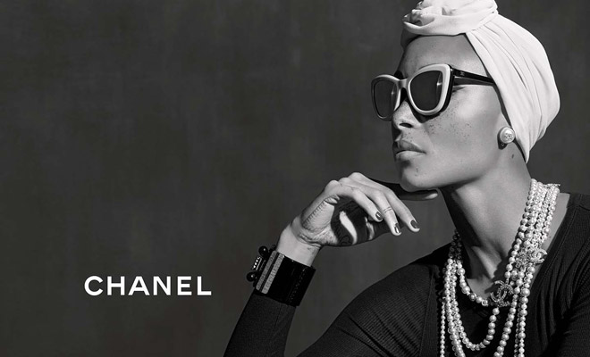 5977fabd26f Adwoa Aboah is the Face of Chanel Eyewear SS18 Collection