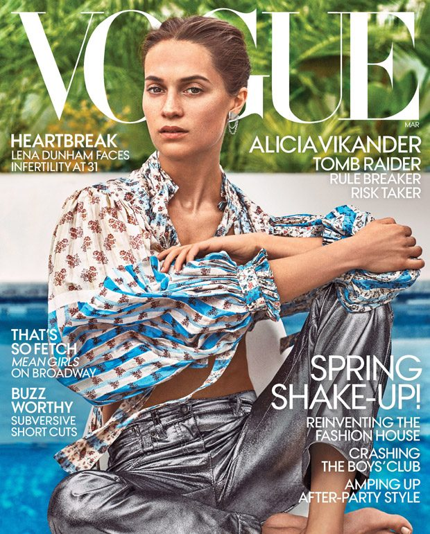 Alicia Vikander is the Cover Star of American Vogue March 2018 Issue