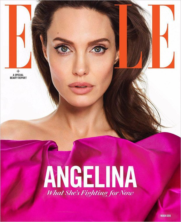 Nina Garcia's First Issue of ELLE Magazine Starring Angelina Jolie