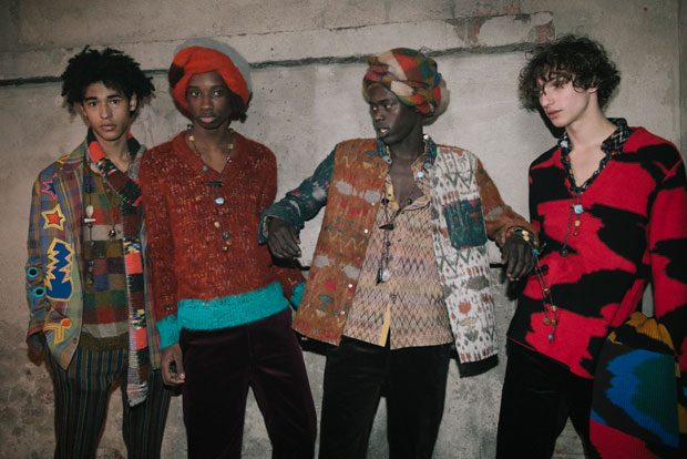 Backstage at Missoni Fall Winter 2018 Collection
