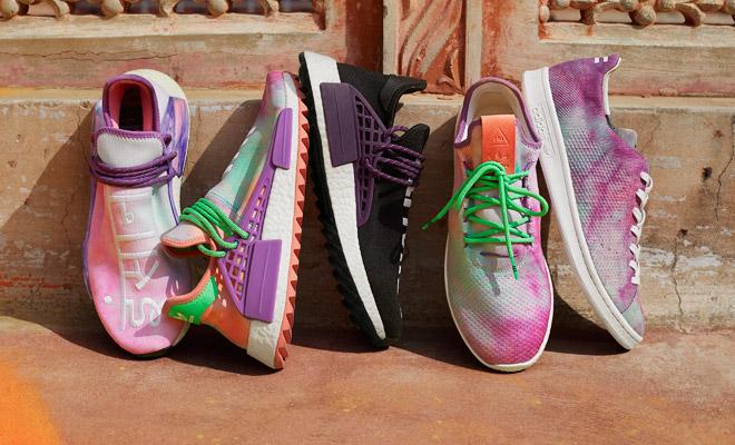 buy popular cbffa 30b85 Hu Holi Powder Dye Adidas Originals X Pharrell Williams SS18