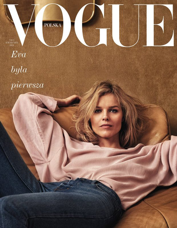 Supermodel Eva Herzigova Covers Vogue Poland April 2018 Issue