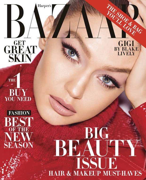 Gigi Hadid Stars in the Cover Story of Harper's Bazaar Big Beauty Issue