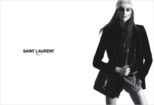 Kaia Gerber is the Face of Saint Laurent Fall 2018 Collection