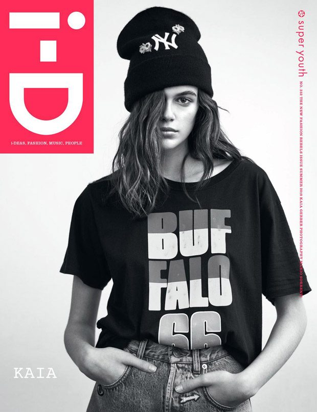 Kaia Gerber is the Cover Girl of i-D Magazine Summer 2018 Issue