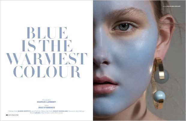 Blue is the Warmest Color by Markus Lambert for Design SCENE Magazine