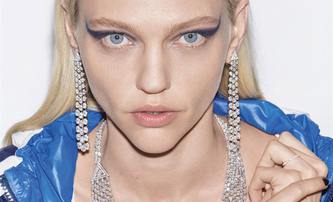 68a415e63e5ac Sasha Pivovarova Models Messika SS18 High Jewelry Collection