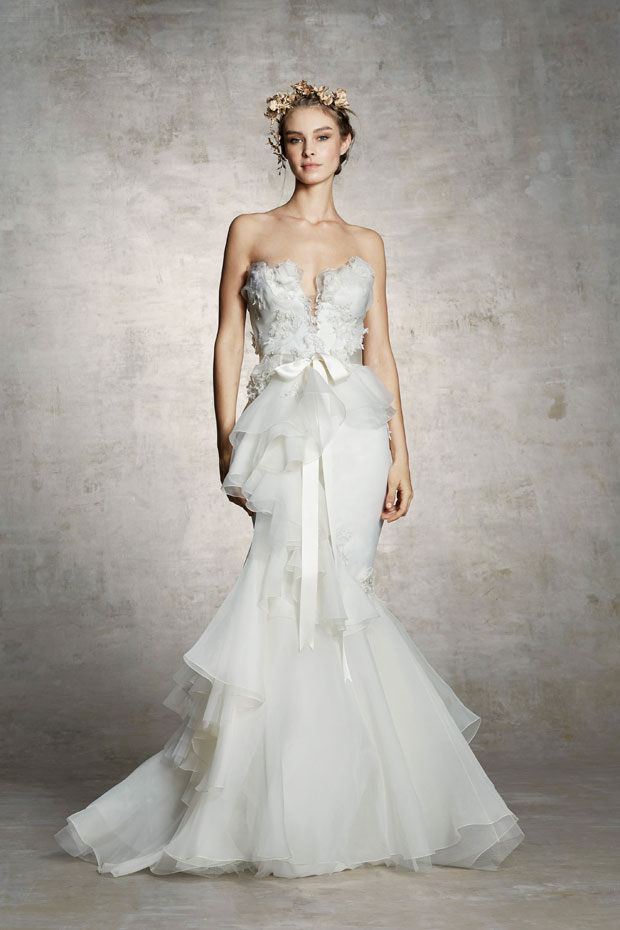 Discover marchesa spring 2019 bridal collection for Red and white wedding dresses 2012