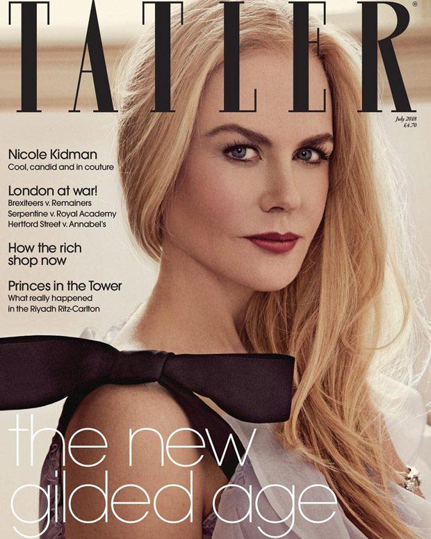 6ae1f39aa Nicole Kidman is the Cover Star of Tatler Magazine July 2018 Issue