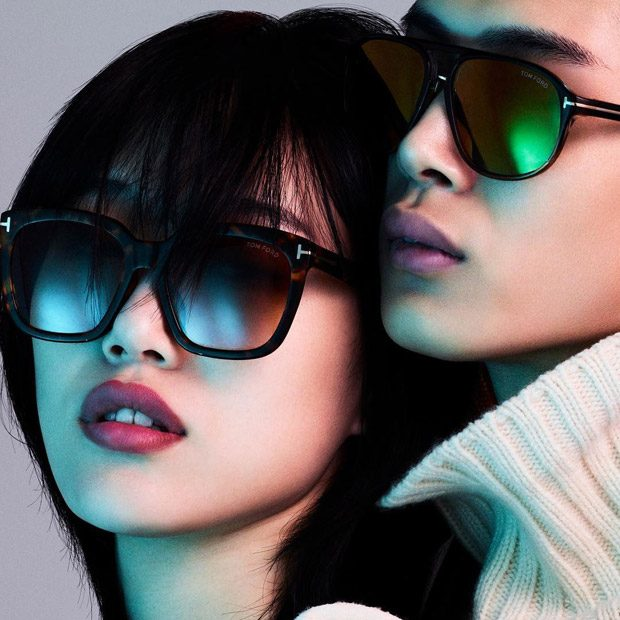 Sora Choi & Li Yufeng Model Tom Ford Spring Summer 2018 Eyewear