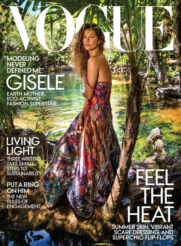 Gisele Bundchen is the Cover Star of American Vogue July 2018 Issue