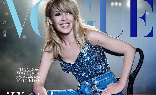 110ebc2e Kylie Minogue is the Cover Star of Vogue Spain July 2018 Issue