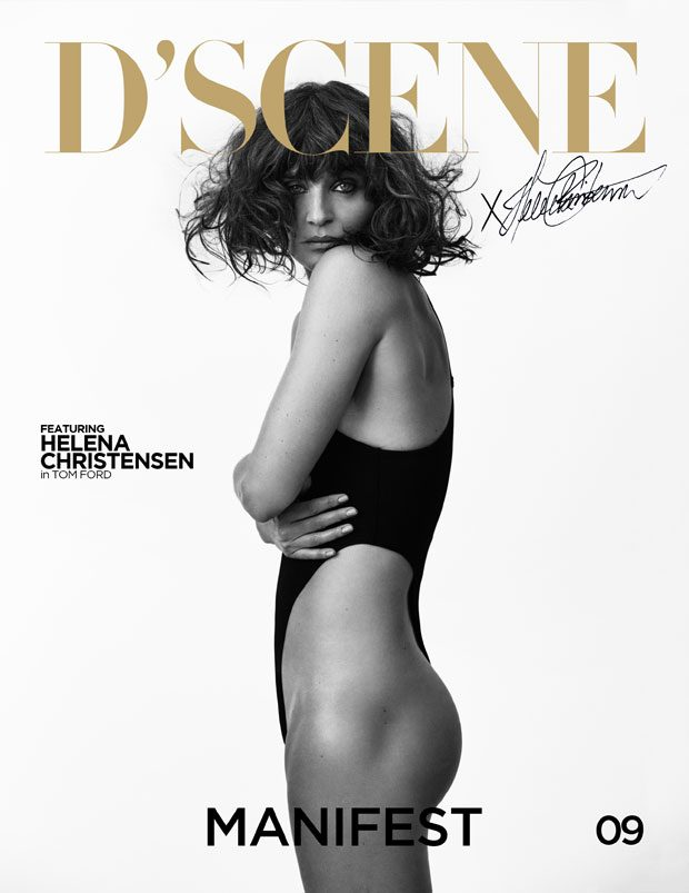 HELENA CHRISTENSEN 2nd COVER FOR D'SCENE MAGAZINE 009