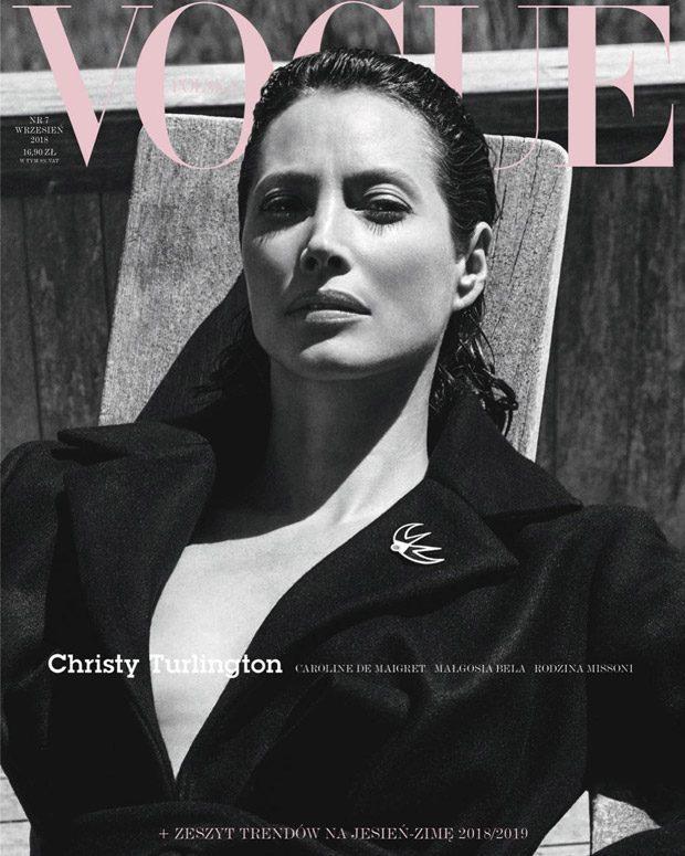 Christy Turlington Covers the September 2018 Issue of Vogue Poland
