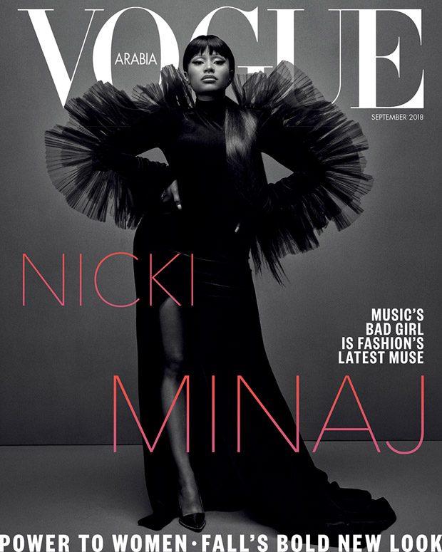 Nicki Minaj Stars on the Cover of Vogue Arabia September 2018 Issue