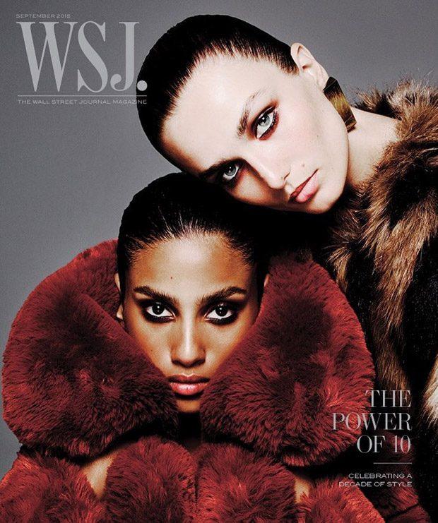 WSJ. Magazine September 2018: 10 Supermodels Pose for 5 Covers