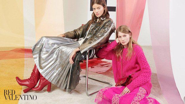 Bara Podzimkova & Sofia Mechetner Model Red Valentino FW18 Collection