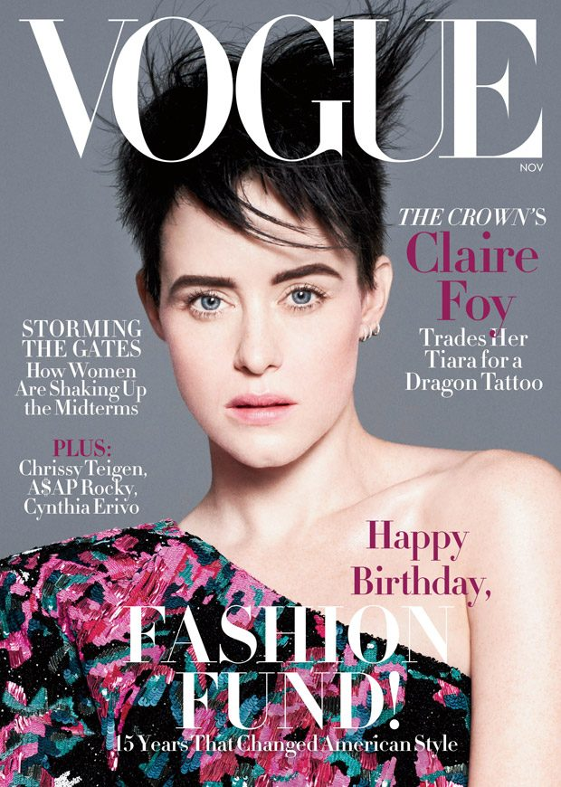 Claire Foy is the Cover Girl of American Vogue November 2018 Issue