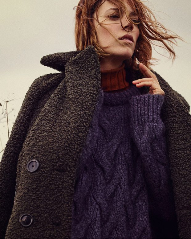 Cozy Feeling: Freja Beha Erichsen Models Zara Fall 2018 Collection