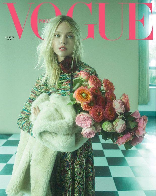 Sasha Pivovarova is the Cover Star of Vogue Russia November 2018 Issue