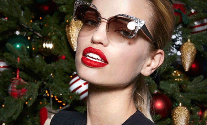 80b0d6e81c36 Christmas 2018  Daphne Groeneveld Models DSquared2 Eyewear Collection