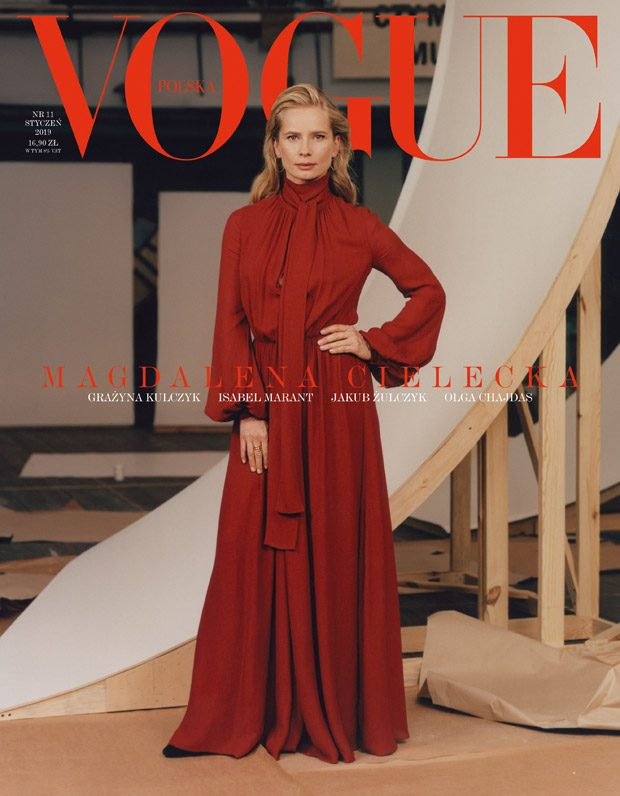 Magdalena Cielecka is the Cover Star of Vogue Poland January 2019 Issue