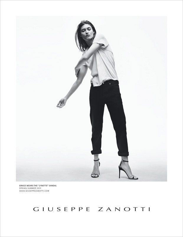 Grace Elizabeth Models Giuseppe Zanotti