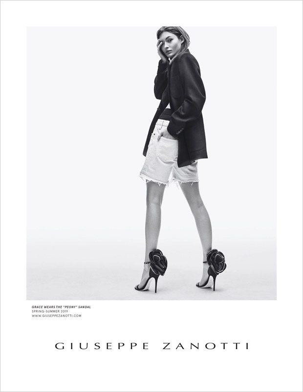 87c201e7387b8 Grace Elizabeth Models Giuseppe Zanotti Spring Summer 2019 Collection