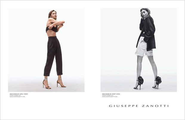 509ab715d5209 Grace Elizabeth Models Giuseppe Zanotti Spring Summer 2019 Collection