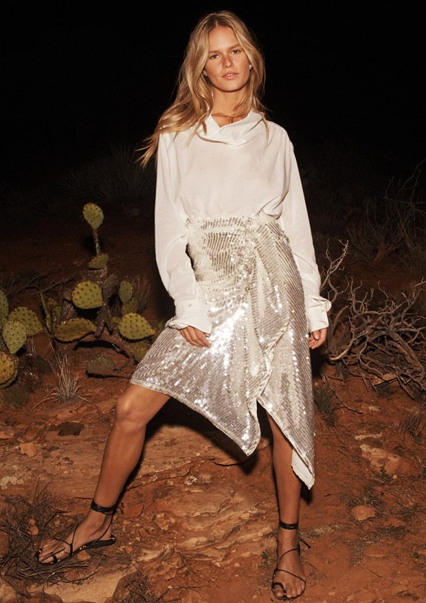 23a65abc The Glam Explorer: Anna Ewers Models H&M Studio SS19 Collection
