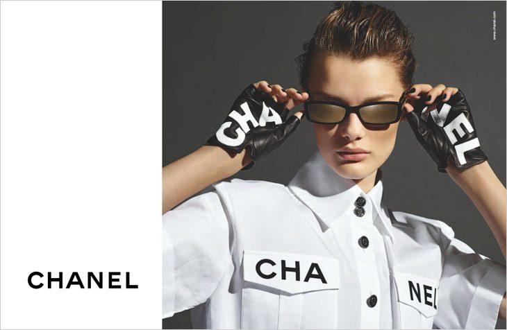 9a952c0dea3c Kris Grikaite & Vittoria Ceretti Model Chanel Eyewear SS19 Collection