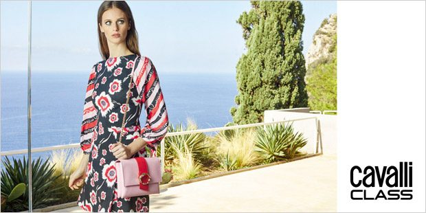new product d645e 68f9b Olimpia Domenici Poses in Roberto Cavalli CLASS SS19 Collection