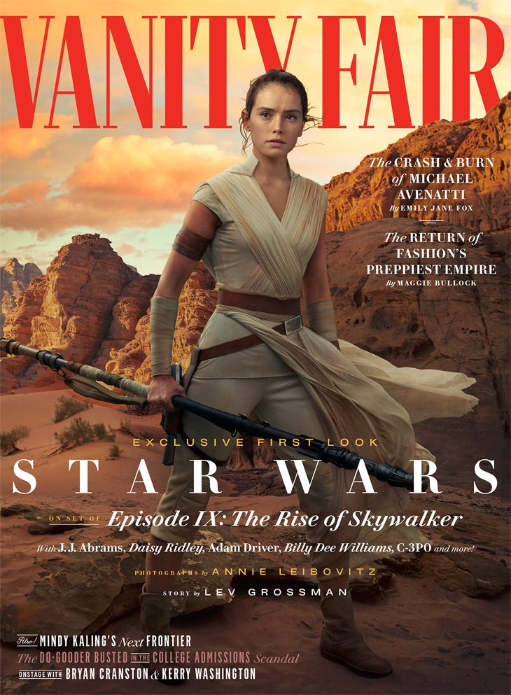 Daisy Ridley Poses as Star Wars' Rey for Vanity Fair June 2019 Cover