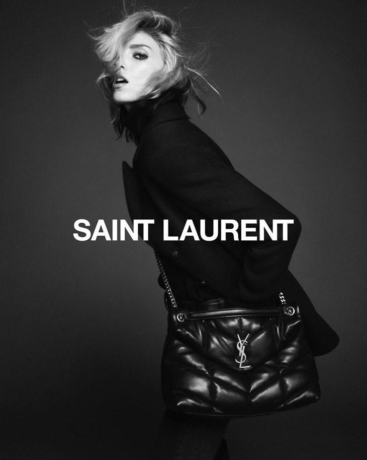 99840ead03c Supermodel Anja Rubik is the Face of Saint Laurent Fall 2019 Collection
