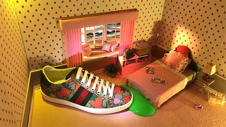 Как выглядят арт-работы, вдохновленные кроссовками Gucci Ace (фото 1)