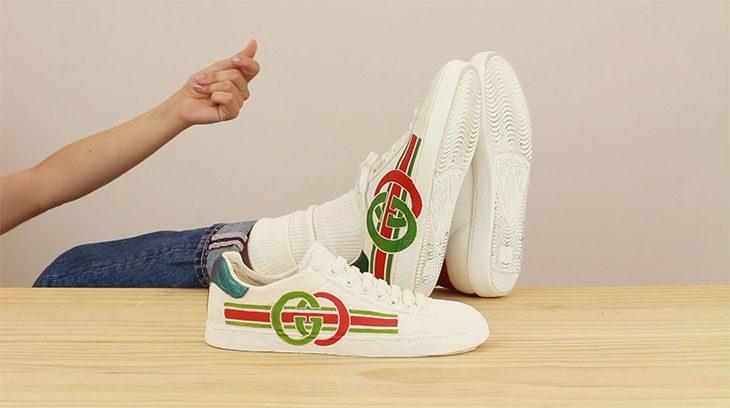Как выглядят арт-работы, вдохновленные кроссовками Gucci Ace (фото 4)
