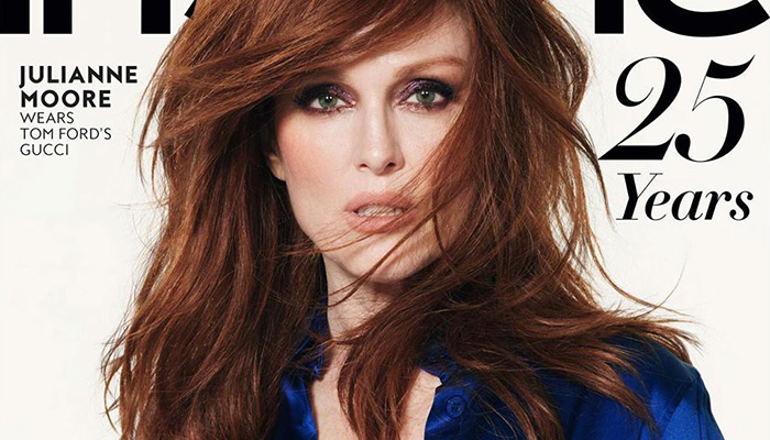 Julianne Moore Poses In The Iconic Tom Ford S Gucci Look For