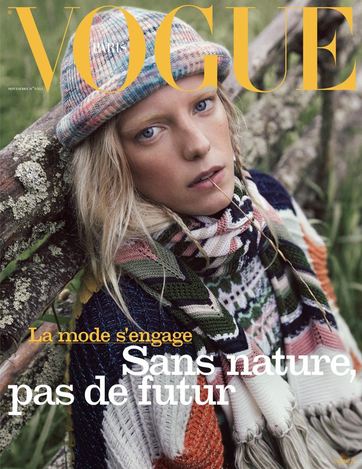 Erika Linder is the Cover Star of Vogue Paris November 2019 Issue