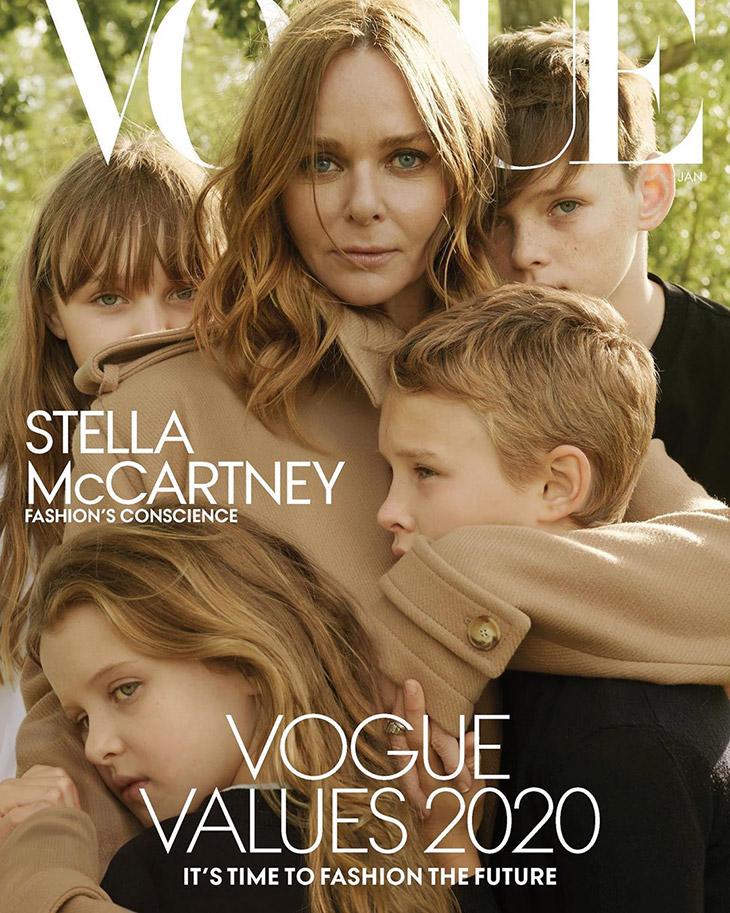 Designer Stella McCartney Covers American Vogue January 2020 Issue