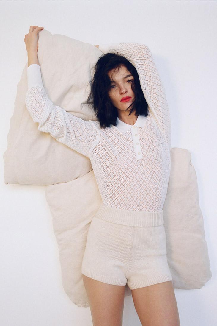 Mariacarla Boscono Models Zara Fine Knitwear Spring 2020 Collection