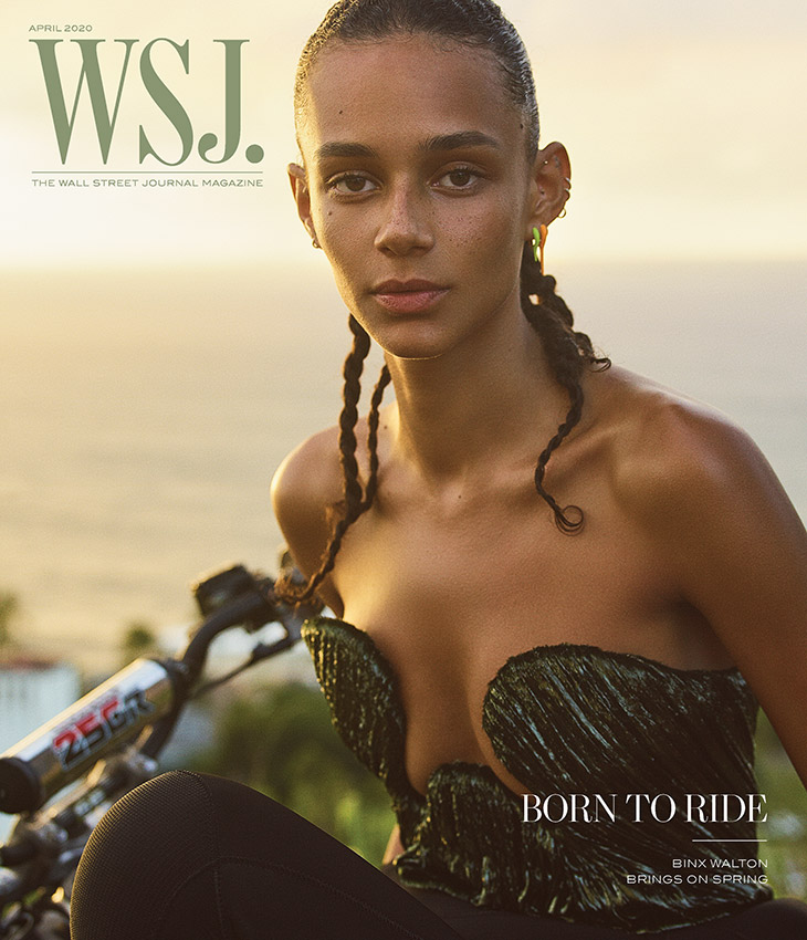 Binx Walton Stars in the Cover Story of WSJ. Magazine April 2020 Issue