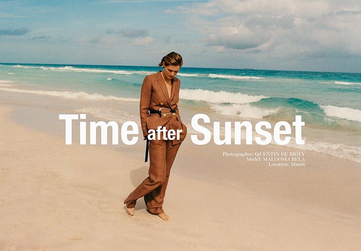 Malgosia Bela Models Massimo Dutti Spring Summer 2020 Collection