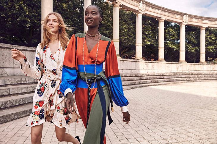 Natalia Vodianova & Anok Yai Model Tory Burch Spring Summer 2020 Looks