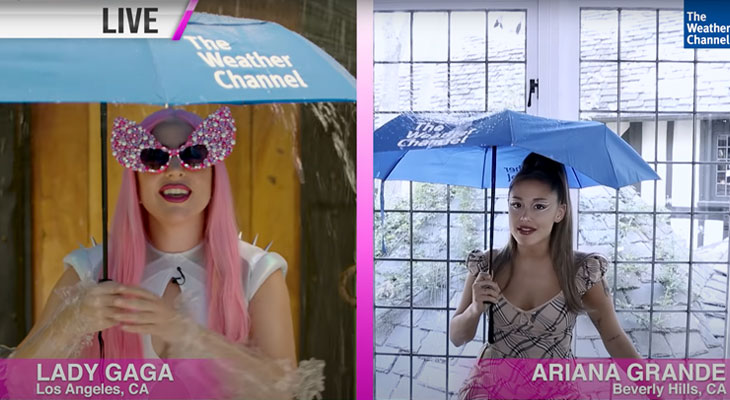 Lady Gaga & Ariana Grande Are Your New Favorite Weather Girls